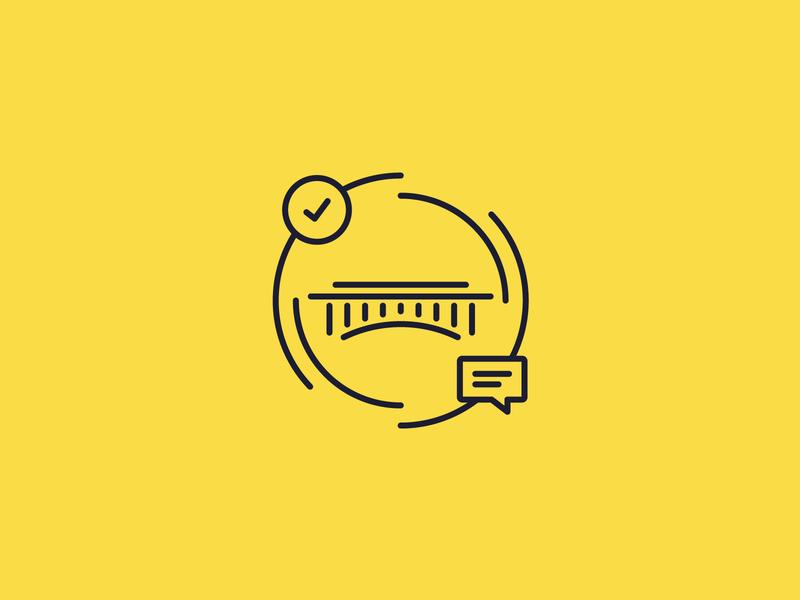 Building Bridges, You Know symbol vector branding community build bridge monoweight illustration icon