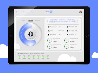 clean air app screen detail