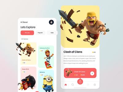 Game Store ui ux 3d illustration 3d design app ui ux ios ui android ui app ui game store game ui vector ux ui