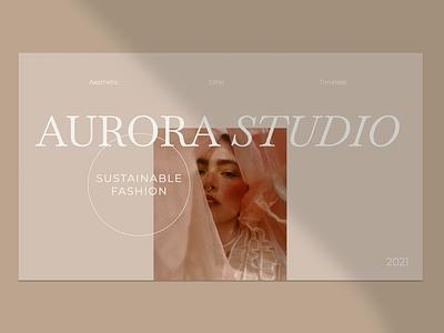 Aurora Studio. Keynote presentation template branding graphic design presentation design portfolio template canva template keynote template presentation template presentation