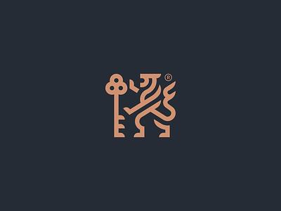 LEO spg rampant heraldry identity minimal logomark branding symbol logo icon illustration animal logo animal lion logo lion