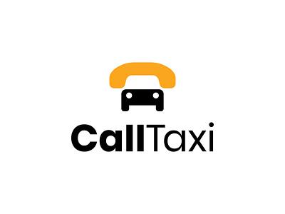 CallTaxi ux ui app branding brand negative space logo negativespace logomark icon minimal illustration identity mark symbol logo car taxi call phone logo phone