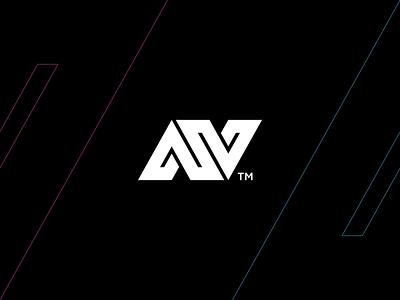 A+V+N Monogram energy sports typo monogram design branding logomark illustration identity mark symbol logo n logo n v a typography letter logotype monogram