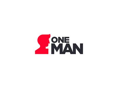 One Man (1) branding logomark illustration identity mark symbol logo clever negative space logo negative space negativespace people human head face man