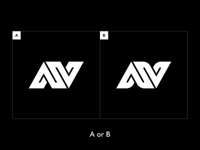 A or B? typography ux ui n v a monogram logo icon illustration branding logomark identity mark symbol logo monogram typo sports energy