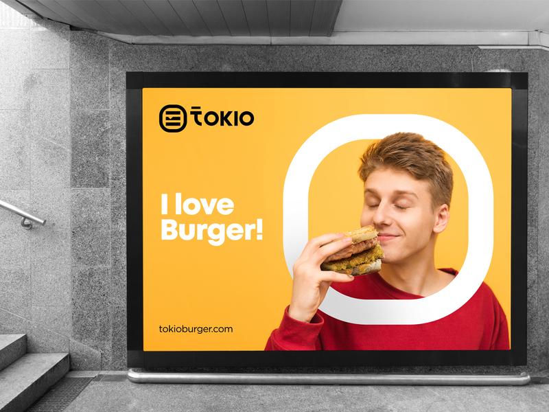 Tokio Branding japanese asian typography wordmark logotype brand identity minimal logomark identity mark symbol logo restaurant food sushi burger tokio branding