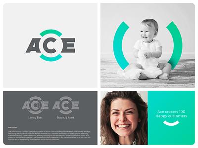 ACE  Branding font ux spg brand rebranding typography ui logotype minimal illustration identity mark symbol logo alarm security camera branding ace