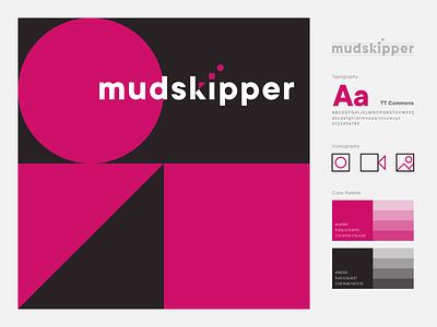 Mudskipper Branding shape circle square triangle brand brown pink abstract typography logotype logomark icon minimal illustration identity mark symbol logo branding mudskipper