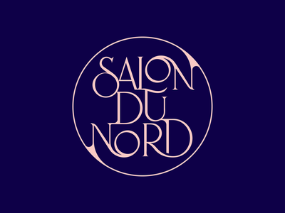 SalonDuNord letter calligraphy typography design brand resturant vector spg typography logo logotype typography branding logomark illustration identity mark symbol logo