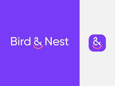 Bird & Nest icon spg brand identity branding logomark animal identity mark symbol logo children kids kid minimalist logo minimal nest logo nest bird logo bird