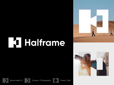 Halframe Branding half photographer design branding identity mark symbol logo h logo h photography photography logo frame logo frame camera logo camera