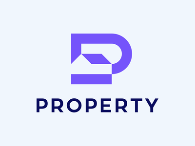 Property 🏠 clever brand ux ui icon branding logomark minimal identity mark symbol logo architect letter p p property house logo house home logo home