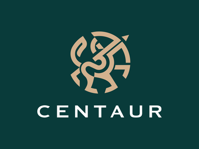 Centaur greek royal elegant branding logomark minimal illustration identity mark symbol logo warrior arrow animal mythical creature mythical horse logo horse centaur logo centaur