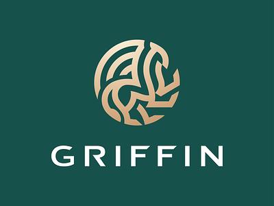 Griffin Mark line logo stroke royal elegant geometry branding logomark animal logo illustration identity mark symbol logo beast animal mythical mythical creature gryphon griffin logo griffin