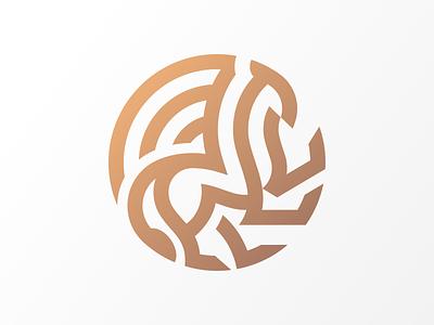 Griffin Mark grid circle geometric elegant branding lion logo lion illustration minimal identity mark symbol logo beast animal mythical creature mythical gryphon griffin logo griffin