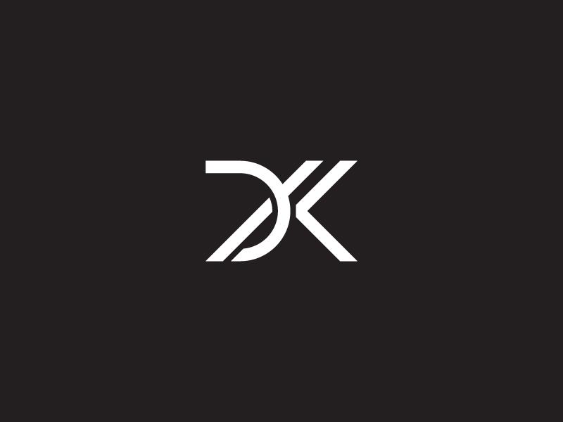 dk monogram by shibu pg dribbble dribbble