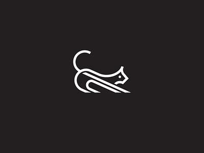 Line Cat design illustration identity minimal stroke line symbol mark logomark logo animal cat