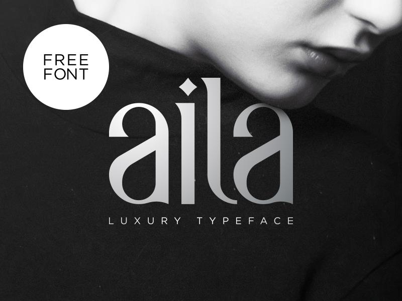 Aila   Free Typeface font free typeface aila free font typography elegant luxury
