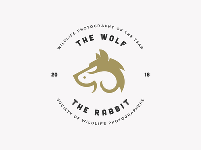 The Wolf And The Rabbit minimal identity logomark negative space symbol mark illustration animal logo rabbit logo wolf logo rabbit wolf