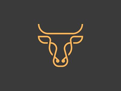 Oxen spg animal logo icon stroke line minimal illustration mark symbol logo animal cow bull oxen ox