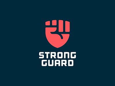 Fist + Shield fist ui design logomark illustration identity mark symbol logo guard crest power strength strong shield logo hand logo shield hand