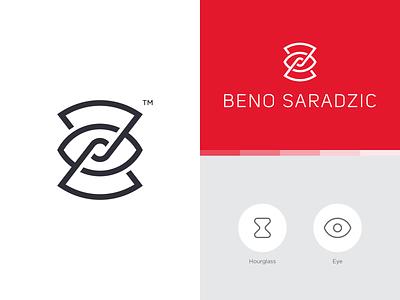 Beno Saradzic spg ui minimal identity branding symbol cinematography timelapse logo photography camera eye time hour hourglass