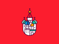 St. Basil's Cathedral russia moscow illustration logo russian branding cathedral christian elegant royal church symbol ui ux spg architects vector