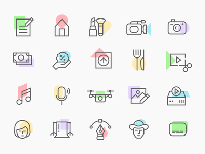 icon set pictogram web ux color outline stroke website ui symbol logo minimal vector illustration icons icon design icon set iconography icon
