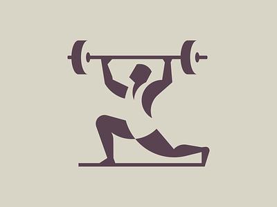Weight Lifter branding logomark illustration identity mark symbol logo negativespace negative space human man gym logo lifting fitness gym