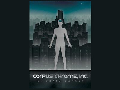 Corpus Chrome Inc  vector science fiction novel illustration