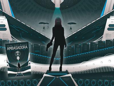 Ambasadora Cover vector science fiction novel illustration