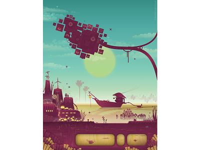 Modafilin Sunrise fiction science surreal scifi vector