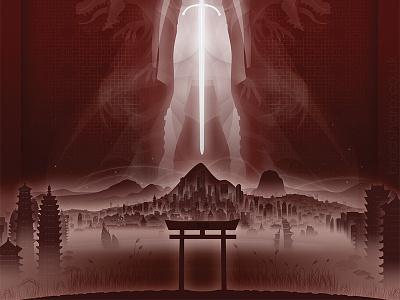 Steel Blood fantasy design illustration