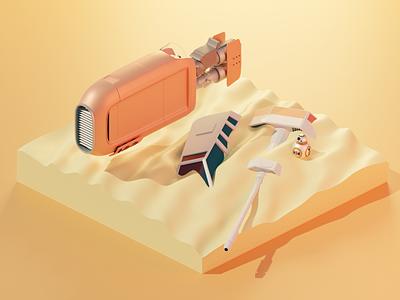 Speeder Rey - Star Wars blender3dart blender 3d low poly lowpoly blender 3d modeling illustration 3d ilustration 3d 3d art