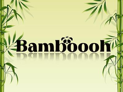 Bamboooh logo design illustration photo editing typography logo business logo design 3d logo