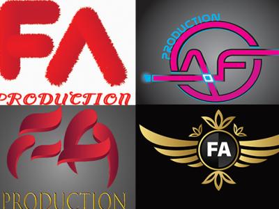 FA logo illustration logo typography design 3d logo business logo