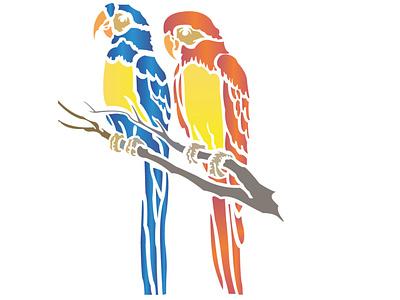 parrot illustration photo editing logo illustration typography design 3d logo business logo