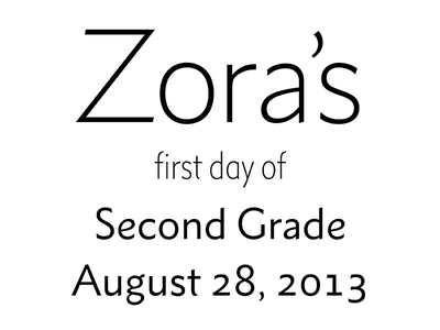 2nd Grade type typography zora metro nova