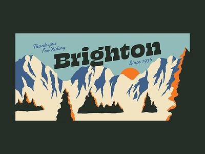 Thanks for Riding Brighton illustration photoshop signage powder sign snow vintage utah resort snowboarding ski