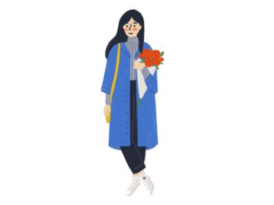 Gal woman girl coat style fashion
