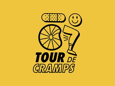 Cycle for Survival bike jersey cancer fundraising tshirt line art vector smile bandaid cramp bike