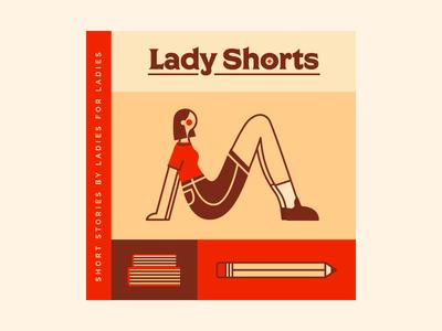 Lady Shorts short stories socks books pencil vector girl illustration illustrator podcast cover podcast