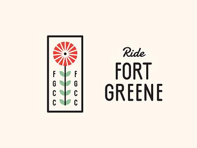 Fort Greene Cycling Club branding club stem flower tire wheel cycle bikes