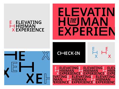 Elevating the Human Experience bold unique custom type logo wordmark identity branding design event branding