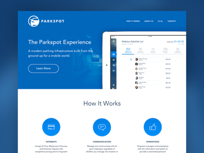 Parkspot parkspot lander website landing landing page clean simple app ipad mobile