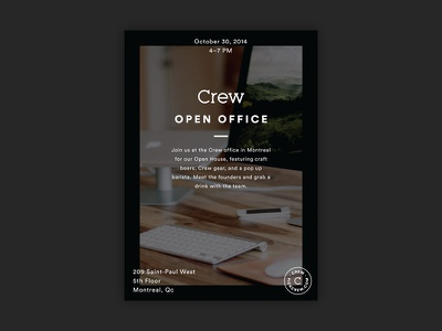 Crew: Open Office print crew open office open house poster typography