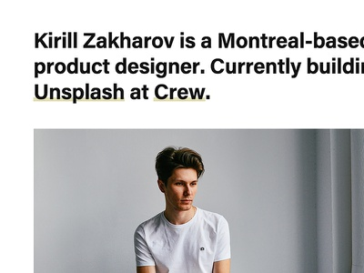 kirillz.com website typography type minimal simple clean kirillz portfolio