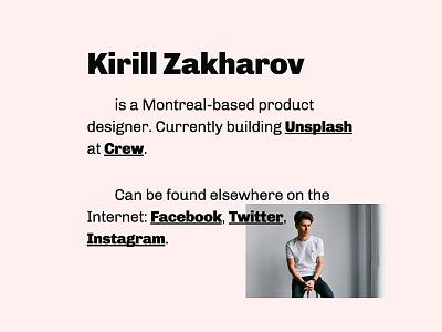 Personal Website personal website minimal simple clean layout portfolio typography type website kirillz