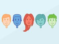 Minimal Character Heads