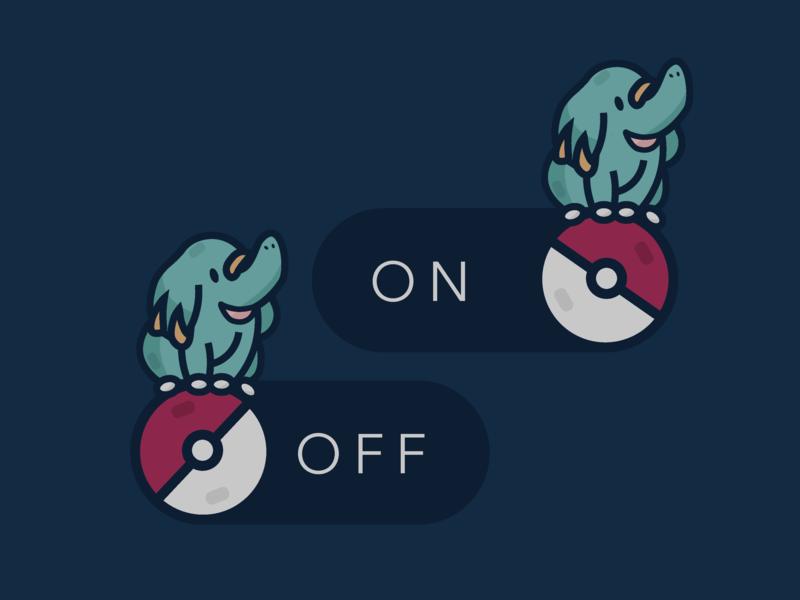 Daily UI – 007 Settings settings ui settings toggle button toggle switch toggles toggle design ui pokemon pokeball ui design daily ui dailyui